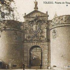 Postales: POSTAL FOTOGRÁFICA TOLEDO. PUERTA DE VISAGRA Ó CARLOS V. THOMAS, BARCELONA. 14 X 9 CM.. Lote 244181195