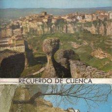 Postales: (11) CARTERILLA PLEGABLE CON 10 POSTALES RECUERDO DE CUENCA. Lote 244832215