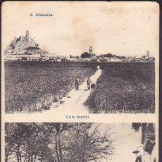 Postales: POSTAL ALMANSA VISTA PARCIAL Y FUENTE DEL LEON. Lote 245237630