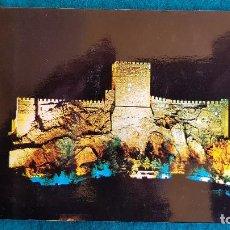 Postales: POSTAL DE ALMANSA (1968) CASTILLO DE NOCHE - ALBACETE - RW. Lote 245615030