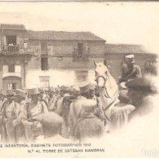 Postales: TORRE DE ESTEBAN HAMBRAN (TOLEDO) ACADEMIA DE INFANTERÍA.GABINETE FOTOGRÁFICO 1910.. Lote 246746875