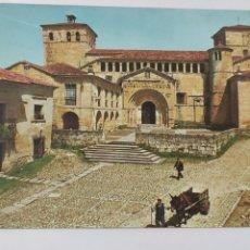 Postales: POSTAL 1 SANTILLANA DEL MAR (SANTANDER) COLEGIATA. Lote 246757595