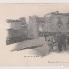 Postales: POSTAL. SALIDA DE YEPES. COLECCIÓN G. F. A. I. DE 1907. PELÁEZ, TOLEDO. Lote 253924145