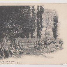 Postales: POSTAL. DESCANSO EN LOS ALJIBES. COLECCIÓN G. F. A. I. DE 1907. PELÁEZ, TOLEDO. Lote 253924660