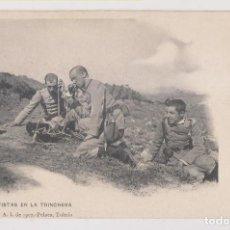 Postales: POSTAL. TELEGRAFISTAS EN LA TRINCHERA. COLECCIÓN G. F. A. I. DE 1907. PELÁEZ, TOLEDO. Lote 253924995