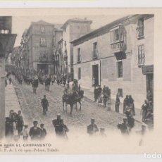Postales: POSTAL. SALIDA PARA EL CAMPAMENTO. COLECCIÓN G. F. A. I. DE 1907. PELÁEZ, TOLEDO. Lote 253926280
