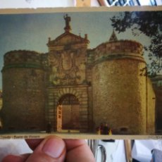 Postales: POSTAL TOLEDO PUERTA DE VISAGRA GRAFICAS MANEN BARCELONA S/C. Lote 254025165
