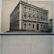 Postales: ESPAÑA - TOLEDO HOTEL CASTILLA - FOTOTIPIA DE HAUSER Y MENET - MADRID - TARJETA POSTAL. Lote 257698460