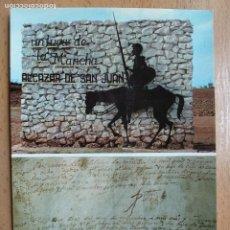 Cartoline: ALCAZAR DE SAN JUAN (CIUDAD REAL). PARTIDA BAUTISMAL DE D. MIGUEL DE CERVANTES... Lote 259324735