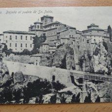 Cartes Postales: CUENCA, BAJADA AL PUENTE DE SAN PABLO, ED. GARAY.. Lote 264533974