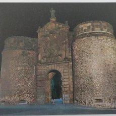Postales: POSTAL 32 TOLEDO. PUERTA DE BISAGRA. VISTA NOCTURNA. Lote 265776079