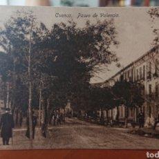 Cartoline: POSTAL CUENCA PASEO VALENCIA, SIN CIRCULAR, ORIGINAL Y BUEN ESTADO, VED FOTO. Lote 267404464