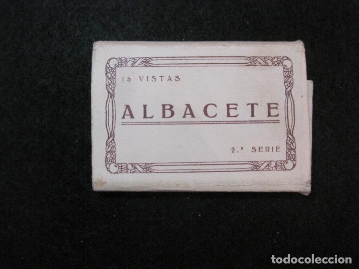 ALBACETE-MINI BLOC CON 15 VISTAS FOTOGRAFICAS-VER FOTOS-(81.495) (Postales - España - Castilla La Mancha Antigua (hasta 1939))