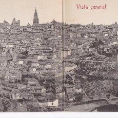 Postales: TOLEDO VISTA GENERAL. ED. CASTAÑEIRA ALVAREZ Y LEVENFELD Nº 401. POSTAL DOBLE SIN CIRCULAR. Lote 269112253