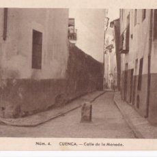 Postales: CUENCA CALLE DE LA MONEDA. ED. FONTANA, FOTO MEDIAMARCA Nº 4. SIN CIRCULAR. Lote 269115713