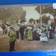 Postales: (PS-65630)POSTAL DE EL REAL DE LA FERIA GRAN PASEO Y FACHADA DEL MERCADO-FOTOGRAFIA BUENDIA ALBACETE. Lote 269209543