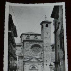 Postales: FOTO POSTAL DE SIGUENZA, CATEDRAL, TORRE DEL SANTISIMO, ED. NIETA DE C. RODRIGO, CIRCULADA.. Lote 269417263