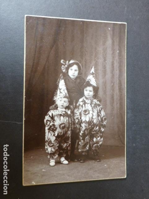 VALDEPEÑAS CIUDAD REAL GARCIA ORTEGA FOTOGRAFO POSTAL FOTOGRAFICA RETRATO HERMANOS DISFRAZADOS (Postales - España - Castilla La Mancha Antigua (hasta 1939))