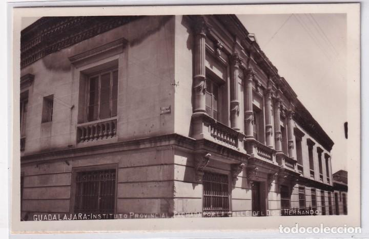 GUADALAJARA INSTITUTO PROVINCIAL. FACHADA POR LA CALLE DE FERNANDO. FOTO CARAMILLO. (Postales - España - Castilla La Mancha Antigua (hasta 1939))