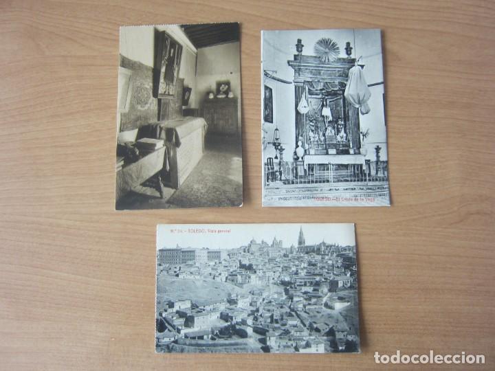 TOLEDO. LOTE DE 3 POSTALES ANTIGUAS. SIN CIRCULAR (Postales - España - Castilla La Mancha Antigua (hasta 1939))