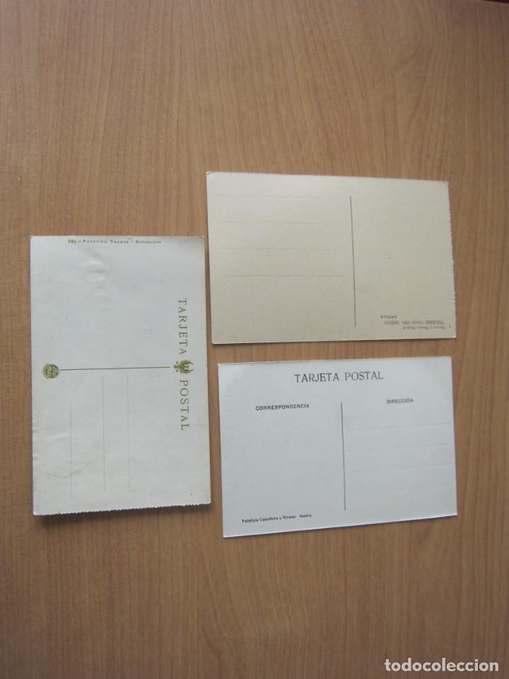 Postales: TOLEDO. LOTE DE 3 POSTALES ANTIGUAS. Sin circular - Foto 2 - 275703208