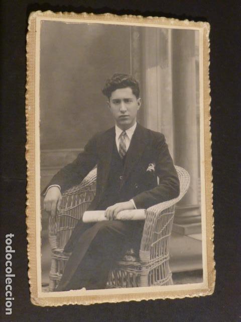TOMELLOSO CIUDAD REAL RETRATO DE JOVEN ASENSIO FOTOGRAFO HACIA 1920 POSTAL FOTOGRAFICA (Postales - España - Castilla La Mancha Antigua (hasta 1939))
