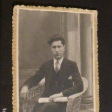 Postales: TOMELLOSO CIUDAD REAL RETRATO DE JOVEN ASENSIO FOTOGRAFO HACIA 1920 POSTAL FOTOGRAFICA. Lote 275860428