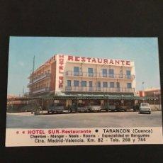 Postales: TARANCON (CUENCA) ED. VIUDA DE MOISE MATA. HOTEL SUR. Lote 277529243