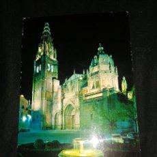 Postales: TOLEDO, CATEDRAL NOCHE, AÑOS 60,POSTAL. Lote 277531378