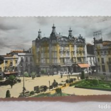 Postales: POSTAL ALBACETE PLAZA DEL CAUDILLO Y GRAN HOTEL 1963 COLOREADA. Lote 279348228