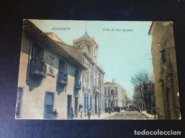 ALBACETE CALLE DE SAN AGUSTIN (Postales - España - Castilla La Mancha Antigua (hasta 1939))