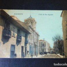Postales: ALBACETE CALLE DE SAN AGUSTIN. Lote 285066103