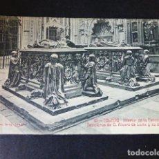 Postales: TOLEDO INTERIOR DE LA CATEDRAL SEPULCROS DE DON ALVARO DE LUNA Y SU ESSPOSA. Lote 285069778