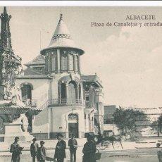 Cartoline: ALBACETE, PLAZA CANALEJAS. ED. KIOSKO MIRIDIO, F. MESAS MADRID. CIRCULADA EN 1928. Lote 286785873