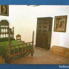 Postales: POSTAL SIN CIRCULAR EL TOBOSO (TOLEDO) CASA DE DULCINEA DORMITORIO EDITA F.I.T.E.R. Lote 287413583