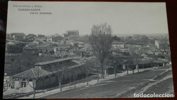 GUADALAJARA, VISTA GENERAL, EDICION FLORES Y ABEJAS, HAUSER Y MENET, SIN CIRCULAR (Postales - España - Castilla La Mancha Antigua (hasta 1939))