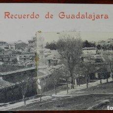Postales: POSTAL RECUERDO DE GUADALAJARA, VISTAS DESPLEGABLES AEROSTACION ACADEMIA INGENIEROS, EXCELENTE ESTAD. Lote 287420078