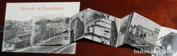 Postales: POSTAL RECUERDO DE GUADALAJARA, VISTAS DESPLEGABLES AEROSTACION ACADEMIA INGENIEROS, EXCELENTE ESTAD - Foto 2 - 287420078