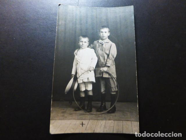 CIUDAD REAL 1916 RETRATO DE HERMANOS POSTAL FOTOGRAFICA (Postales - España - Castilla La Mancha Antigua (hasta 1939))