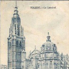 Postales: POSTAL LA CATEDRAL. TOLEDO PABLO IGLESIAS SAN MATÍN DE LUIÑA ASTURIAS. Lote 287655563