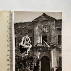 Postales: POSTAL. VISO DEL MARQUÉS. CIUDAD REAL. PORTADA PALACIO D. ALVARO DE BAZÁN. EDICIONES PARIS.. Lote 287856363