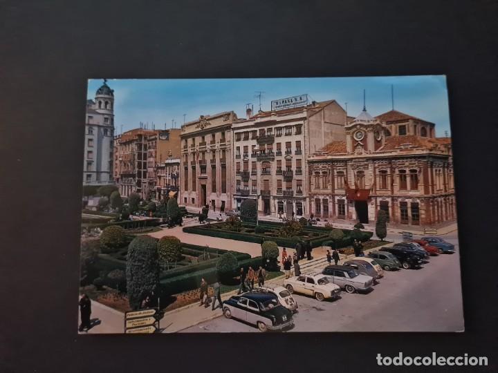 LOTE AB ALBACETE POSTAL ALBACETE PLAZA DEL CAUDILLO GARRABELLA (Postales - España - Castilla la Mancha Moderna (desde 1940))