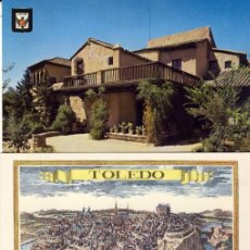 Postales: TOLEDO.- JARDÍN DE LA CASA DEL GRECO.- VISTAS DE TOLEDO Y CANTO A TOLEDO.-. Lote 290034708