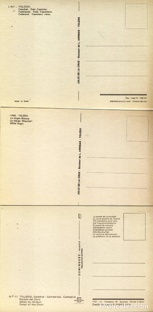 Postales: TOLEDO.- CATEDRAL: CORO, SALA CAPITULAR Y VIRGEN BLANCA.- - Foto 2 - 290037613