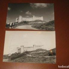 Postales: 2 FOTOGRAFIAS DEL CASTILLO DE MAQUEDA. Lote 295446418