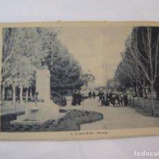 Postales: ALBACETE-PARQUE-ROISIN-6-POSTAL ANTIGUA-(85.202). Lote 295531113