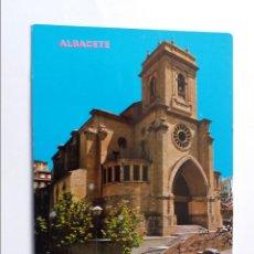 Postales: POSTAL - ALBACETE - LA CATEDRAL. Lote 295687513