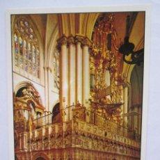 Postales: POSTAL TOLEDO - CATEDRAL - ORGANO - JULIO DE LA CRUZ 2005 - 1979 - SIN CIRCULAR. Lote 295980458