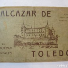 Postales: ALCAZAR DE TOLEDO-BLOC DE 21 POSTALES ANTIGUAS-FRANCO Y EL GENERAL MOSCARDO-VER FOTOS-(85.384). Lote 296897428