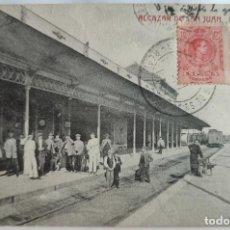 Postales: ALCAZAR DE SAN JUAN ANDENES DE LA ESTACION. Lote 297044108